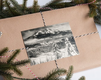 Vintage Winter Photo Gift Toppers