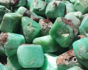 CHRYSOPRASE TUMBLED STONE One (1) Medium/Large Natural Tumble Stone