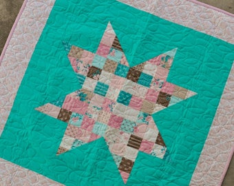 Baby Quilt - Scrappy Star