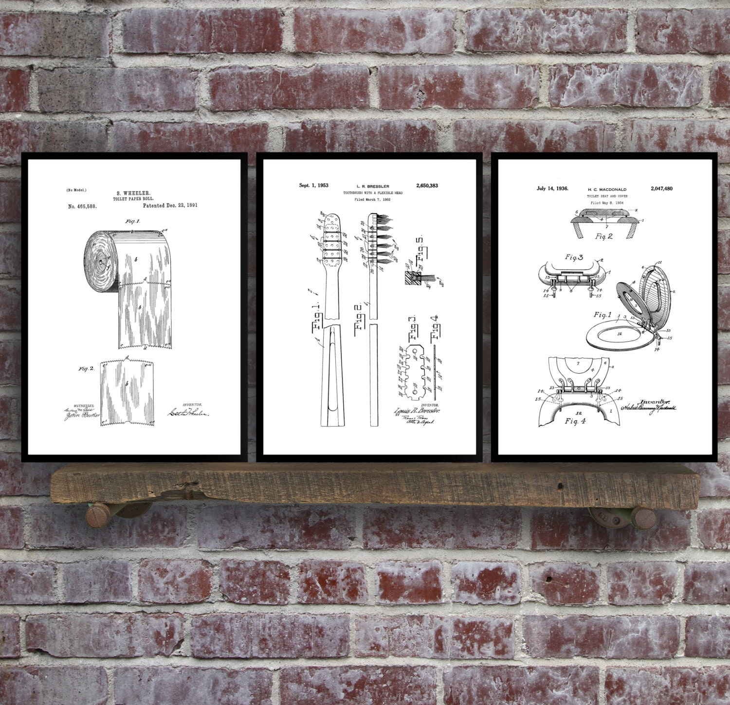 Bathroom poster bathroom art bathroom decor bathroom art toilet bathroom poster bathroom art bathroom decor bathroom art toilet paper toilet seat tooth brush bathroom wall art bathroom 3 set malvernweather Images