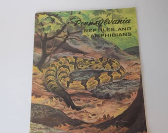 Second Edition Booklet of Pennsylvania Reptiles and Amphibians with a Ned Smith Cover