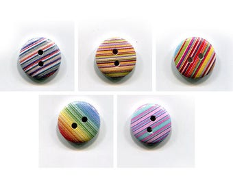 lot 4 buttons removed 15mm, wood, pattern choice