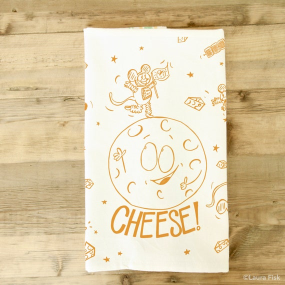 Mond Käse Geschirrtuch Gericht Handtuch lustige Käse besessen