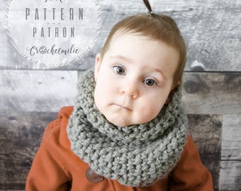 CROCHET PATTERN #033---Cozy neck warmer for all family
