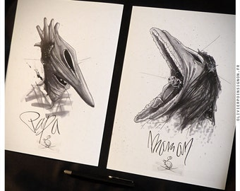 Fine art print A4-Beetlejuice - [39exemplaires] diptych