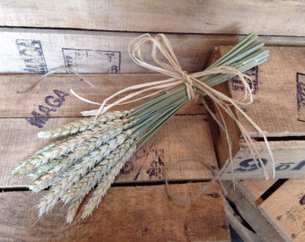 Dried Bunch Wheat Pew Ends Chairs Hangings Rustic Wedding Decor Church Aisle Runner