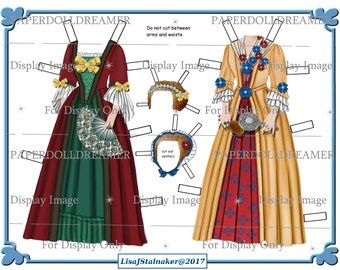 Printable Paper Doll - Sarah Kitchell Additional Costumes