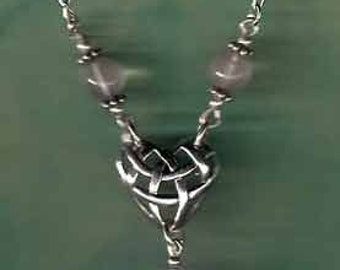 Elegant Sweetheart Celtic Heart Necklace Sterling Gems  CltNk001
