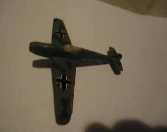 Vintage German ME-109 Fighter Die cast Metal Plane Toy, Made in Hong Kong, collectable