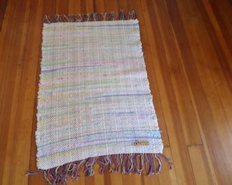 Flannel Rag Rug Pastels