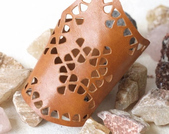 Perforated Leather Cuff,Womens leather cuff, Boho Bracelet, Boho Leather Bracelet, Cuff Bracelet, Boho Jewelry, Gypsy Bracelet, Gift for her