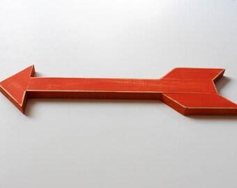 Painted Wood Arrow. Farmhouse Arrow. Modern Wood Arrow.  Farmhouse Decor. Spring Decor. Painted Arrow. Nursery Decor. Wall Arrow