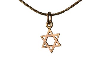 Star Of David 14K Gold Filled Pendant Necklace Dainty Simple Jewellery Magen David Necklace Handmade Free UK delivery GP29