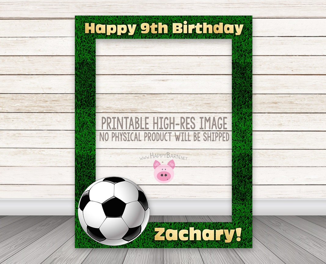 Printable soccer photobooth frame football photo booth frame zoom jeuxipadfo Images