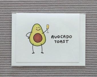 Avocado Toast - Congratulations Pun Card