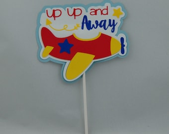 Airplane Party Cake Topper