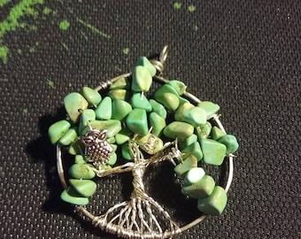 Tree Of Life Pendant with Owl bead