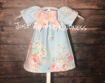 Girls Easter Dress, Girls Spring Dress, Girls Easter Outfit, Baby Easter Dress, Girls Floral Dress, Girls' Clothing, Dresses, Clothing