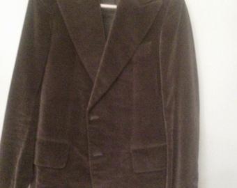 Sak's 5th Ave Vintage Tailored Velvet Suit Men's 38