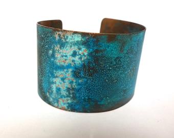 Verdigris Copper Cuff Bracelet