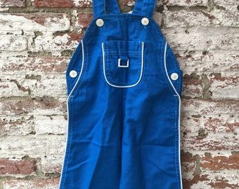 Vintage Garden pants, dungarees, salopette in blue
