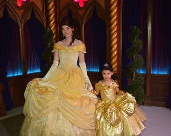 Belle Dress, Princess Belle inspired Dress, Beauty and the Beast inspired, Belle costume, Deluxe belle
