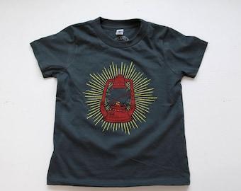Lantern tee kids shirt toddler t-shirt charcoal grey camping lantern vintage lantern
