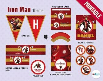 Iron Man Birthday Package, Printables