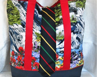 Wildflowers and Rivers Tall Tote
