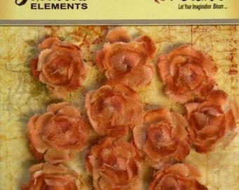 Petaloo Textured Elements Mini Garden Canvas Rosettes Peach