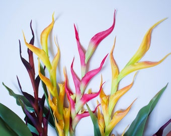 Real Touch Birds of Paradise Artificial Tropical Flowers/Orange/Purple/Pink/Home Decor/Flower Centerpiece