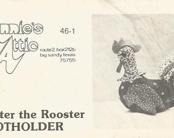 "Vintage Annie's Attic ""Brewster the Rooster"" Potholder Pattern"