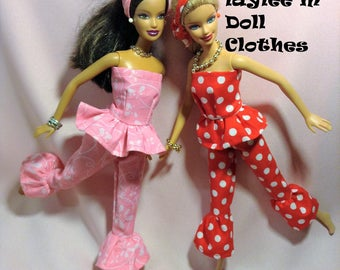 Barbie Doll Pajama Pink or Red 7.50 each - FREE SHIPPING