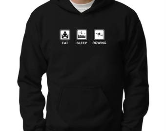 Rowing Clothing: Rowing Blades Pocket Hoodie Sweatshirt, Gifts For Rowers