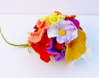 11x Flower bouquet bouquet bouquet for the wedding felt Biedermann bouquet bridal bouquet spring bouquet of felt flowers