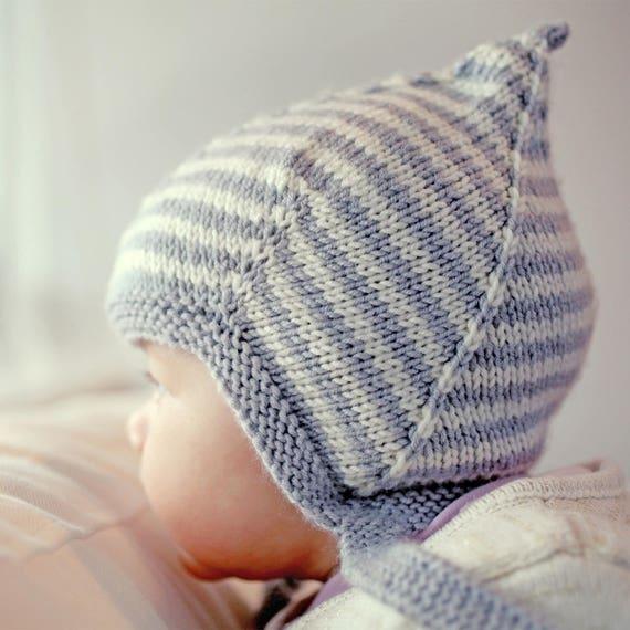 Pixie Hat Knitting Pattern Baby Knit Pdf Baby Hat Knitting Pattern
