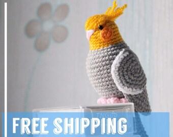 Amigurumi Bird Tutorial : Crochet parrot pattern love bird tutorial pdf pattern