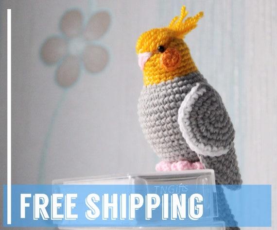 Amigurumi Papagei Spielzeug Vogel häkeln Plüschtier