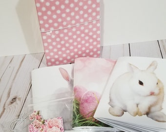 Laminated-A6-4x6-Travelers Notebook-Bunny-TN-Inserts-Accessories-Fauxdori-Hobonichi-Midori-Diary-Journal-Sketchbook-Daily To Do