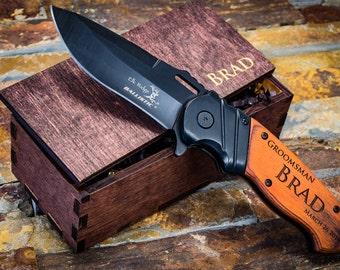 Groomsmen Gift, Engraved Pocket Knife, Personalized Knife, Personalized Gift, Boyfriend Gift, Gift for Men, Groomsmen Knives, Hunting Gift