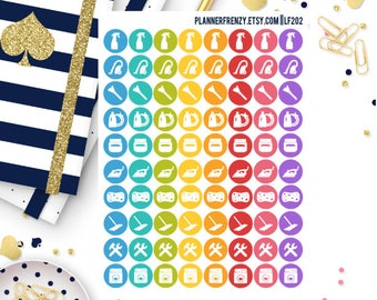 80 Cleaning/Chores Icon Planner Stickers! LF202