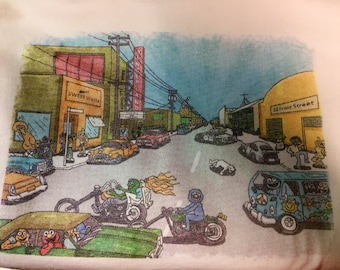 Shakedown Street muppets shirt.. Grateful Dead Inspired