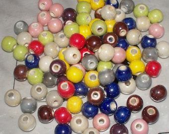 Pearlized Porcelain Beads - 8MM