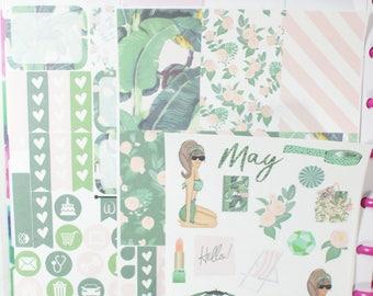 Exquisite Emerald Happy (MAMBI) Planner Sampler Kit (NF568) High Gloss, Semi-Gloss, Matte Planner Stickers