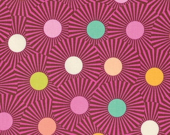 1/2 yard SLOW And STEADY  by Tula Pink for Westminster fabrics Clear Skies Orange Crush