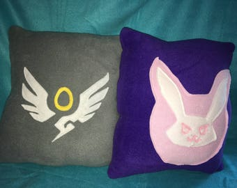 Overwatch Inspired Mercy and D Va Pillows Plush (unofficial)