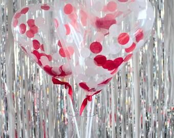 3 x Mini Heart Confetti Balloons Party Decoration or Cake Topper