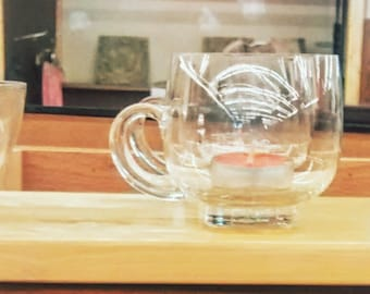 Tea Light Candle Tray | Repurposed Tea Cups | Upcycled Candle Tray | Tea Light Centerpiece | Casual Lighting | Shabby Chic Decor