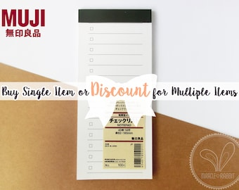 Muji To Do List Notepad / Checklist Notepad