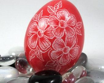 Pysanky, Pisanki, Ukrainian Egg, Polish Easter Egg, Lithuanian Egg, Easter Egg, Ukrainian Easter Egg, Scratched Egg, Pysanky Egg, Red Floral